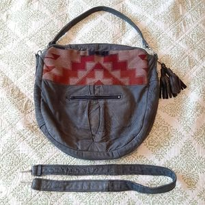 Large Hoakon Helga repurposed leather purse